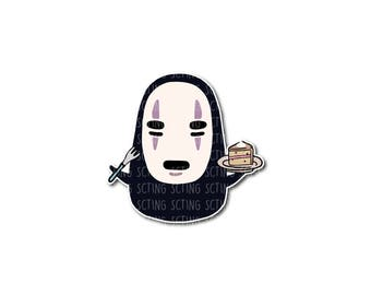 No Face (Kaonashi) and Cake, from Studio Ghibli's Spirited Away, Sticker