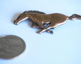 Vintage Copper Brooch/Pin / Horse Brooch / Pin / Copper Jewelry / Horse Jewelry / Copper Items / Horse Items / Racing Horse