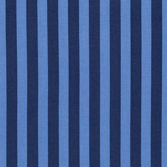 FQ TENT STRIPE Blue Tula Pink Tabby Road Multiple units cut as one length