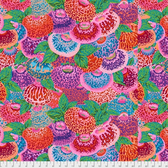 Pre-Order LADIES PURSE Philip Jacobs PWPJ094.REDXX Kaffe Fassett Collective Sold in 1/2 yd increments Pre-Order Item