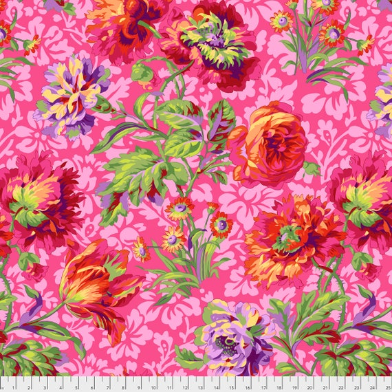 Pre-Order BAROQUE FLORAL Red Philip Jacobs PWPJ090.REDXX Kaffe Fassett Collective Sold in 1/2 yd increments Pre-Order Item