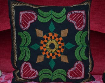 Pillow case,  antique, embroidery,