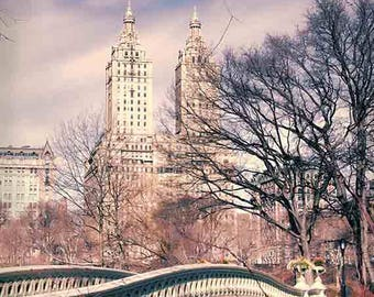 Central Park Photography, NYC Print, Bow Bridge, New York City Print, NYC Art, Travel Photography, Urban Landscape Print
