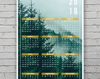 Modern home decor 2018 calendar