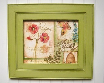 8x10 picture frame Green frame Distressed frames Grass Green 5x7 frame 4x6 frame Distressed picture frame