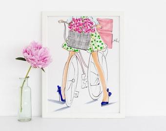 Spring and Stilettos (Fashion Illustration Print)