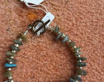 Labradorite & Onyx bracelet