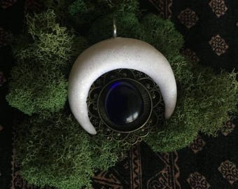 White Moon Pendant