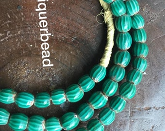 Africa old trade beads Venetian green water  antique beads