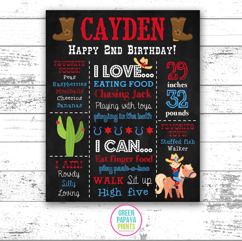 Cowboy Birthday Invitation Any Age Rustic Country Party Invite Western