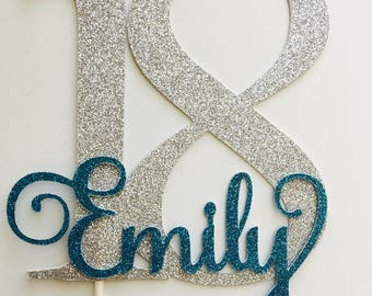 18th Cake Topper - gold  - personalized cake topper - 18th birthday #72621017
