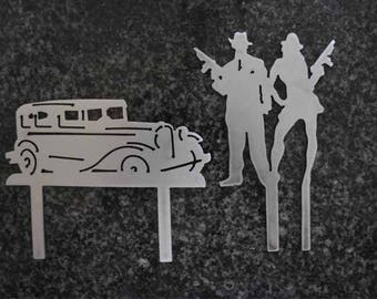 bonnie and clyde cake topper