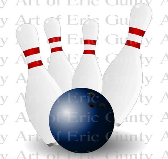 Bowling League Birthday - Edible Cake and Cupcake Topper For Birthday's and Parties! - D22663