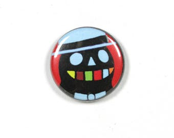 1 Inch Pinback Button - Grinning Ghost Designer Pin