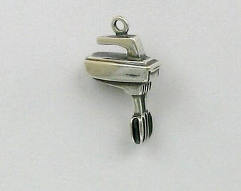 Sterling Silver 3-D Electric Hand Mixer Charm