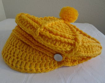 Lovely Vintage 1960's Sunny Orange Hat, Never Worn - Very Cute!!