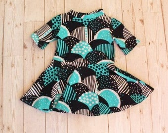 Twirly Skirt Dress.....Turquoise Semis