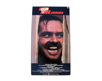 The Shining VHS Stanley Kubrick Jack Nicholson 80s 90s Horror Classic