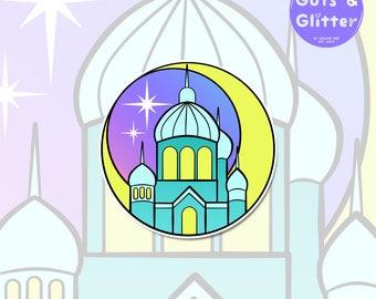 Moon Kingdom, Sailor Moon Style Holographic Sticker