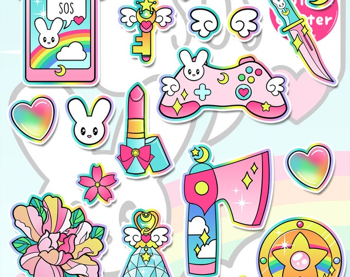 Fight Like a Girl 3.0, Magical Girl Holographic Sticker Pack