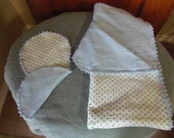 Flannel Baby Blanket & Burp Cloth