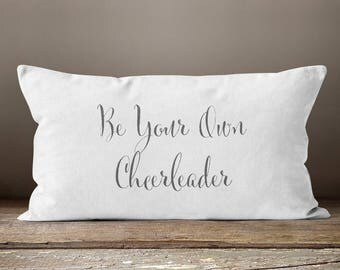 Cheerleader, Cheerleader Gifts, Quote Pillow, Quotes, Motivational, Motivational Quotes, Farmhouse Chic, Throw Pillows, Pillows