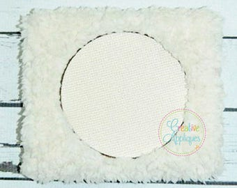 Embossed Circle Monogram Frame Digital Machine Embroidery Design 15 Sizes, pile drop, nap tack down, embossed frame,