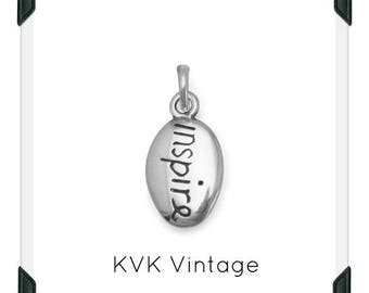 "Oxidized Reversible ""inspire"" Charm"