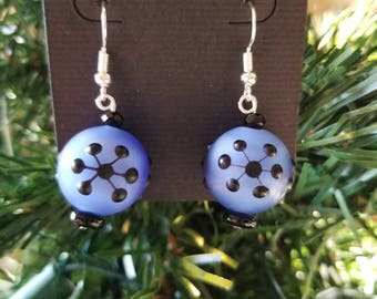 Snowflake Snowball Earrings