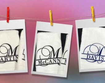 Monogrammed Hand Towels - Set of Two!