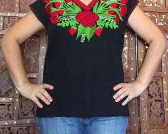 Mexican blouse, boho Mexican blouse, Mexican embroidered blouse
