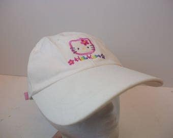 90s Hello Kitty hat cap white vintage low profile