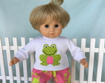 Frog Pajamas for Bitty Baby or Bitty Twin/15 inch doll