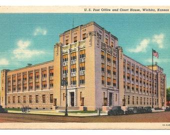 Lot of 10 Vintage Linen Postcards - Various Buildings in Wichita, Kansas  (2776)