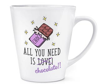All You Need Is Love Chocolate 12oz Latte Mug Cup