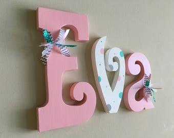 Nursery name sign, Nursery wall decor, nursery letters, baby girl nursery letters, girl nursery decor, nursery wood name, nursery wall art