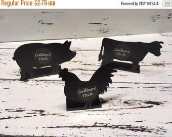 MEGA SUMMER SALE Chalkboards/Animal Chalkboard/Barn Wedding/Farm Wedding/Wedding/Mini Signs/Rooster/Cow/Pig /Party Supplies/Chalk Signs/Luau