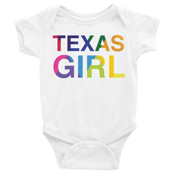 Infant Bodysuit with Texas Girl on the Front