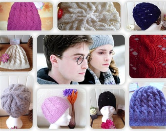 TO order - Beanie Hermione knit openwork 100% Merino, color and size