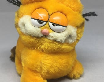 Vintage Garfield Plush Mini Orange Cat Comic 1981