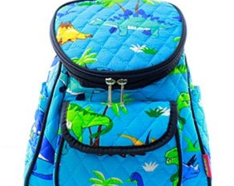 Quilted Dinosaur Backpack with free monogram