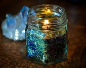 Galaxy Baby Shower - Twinkle Twinkle Little Star Soy Wax Candle - Wedding Favors for Guests - Soy Candles Handmade - Mini Sparkly Candles