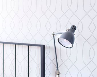 Moorish Trellis wall stencil - Scandinavian style wall stencil - Reusable stencils - Wallpaper look - DIY home decor