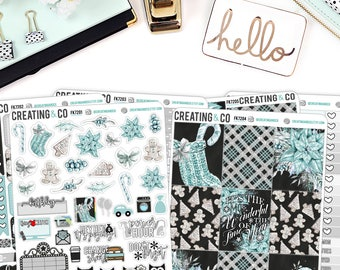 Winter Frost Weekly Planner Kit for No-White Space and White Space Planners  - FK72