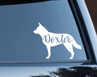 Custom Heeler, Australian Cattle Dog Vinyl Decal