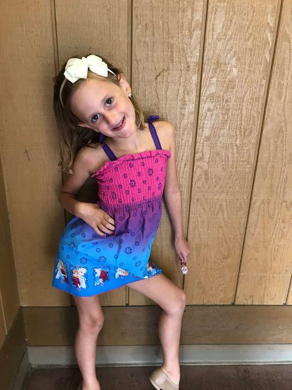 Frozen sundress/cotton sundress/Frozen dress/toddler Frozen sundress/Frozen gift/Frozen clothes/Frozen mock smock/Disney dress/Princess dres