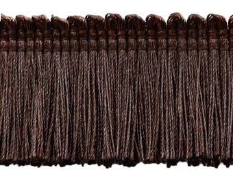 "Brown, 1 1/4"" Basic Trimbrush Fringe Style# 0150sb Color: Mocha - D2 (sold by The Yard)"