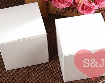 50 x 7cm en blanc de 6cm 8cm 9cm 10cm carton partie Bomboniere Cupcake faveur conteneur boîtes