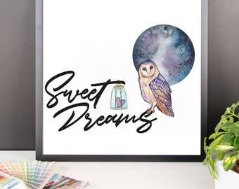 Sweet Dreams Framed Poster