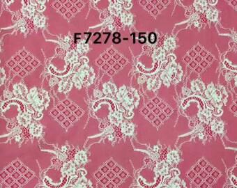 """Chantilly Eyelash Lace Fabric in white  for Wedding Gowns, 1yard/3Yards*59"""" white eyelash lace fabric  , black eyelash lace fabric-7278"""